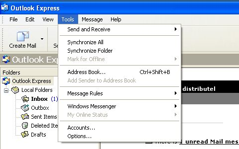 Configuring an IMAP Email account on Outlook Express